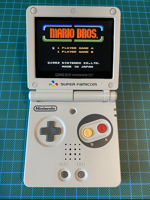 """Backlit IPS V2 Gameboy Advance SP - """"Super Famicom Power Plus"""
