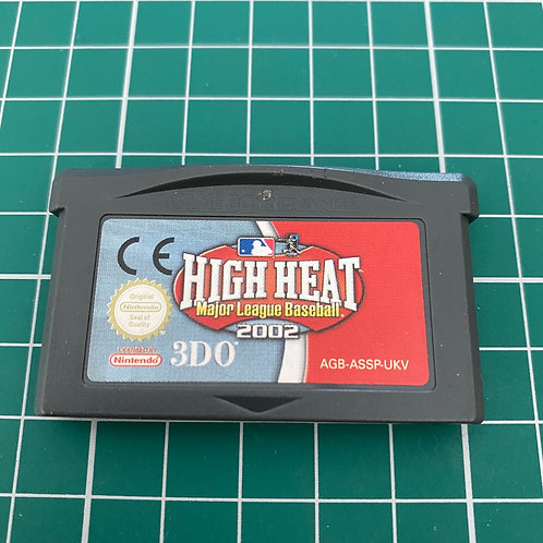 High Heat Major League Baseball 2002 - Gameboy Advance
