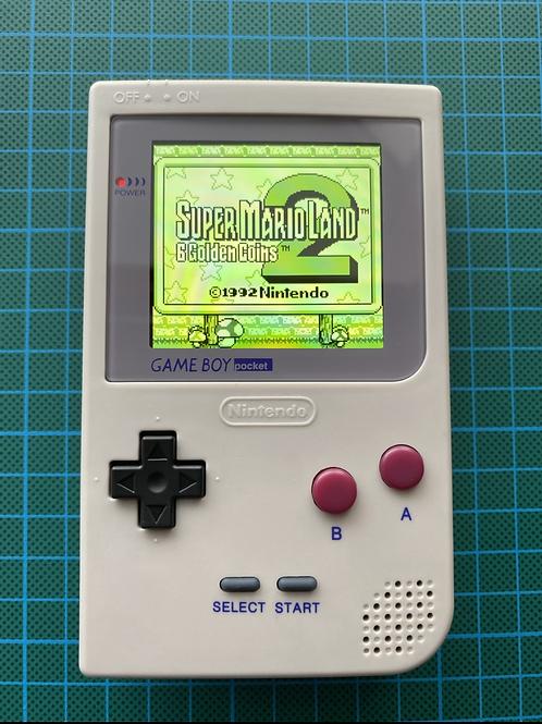 """Backlit IPS V2 Gameboy Pocket - """"Pocket UltraBoy"""""""