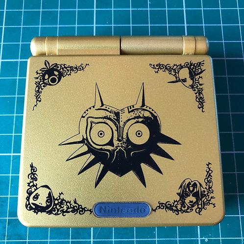 """Backlit IPS V2 Gameboy Advance SP """"The Mask"""""""