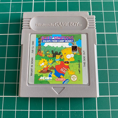 Bart Simpson's Escape from Camp Deadly - Original Gameboy