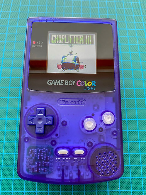 "Backlit TFT Gameboy Colour - ""Wild Berry"""