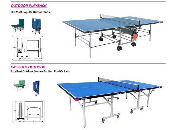 2019 Table Tennis catalog outdoor tables