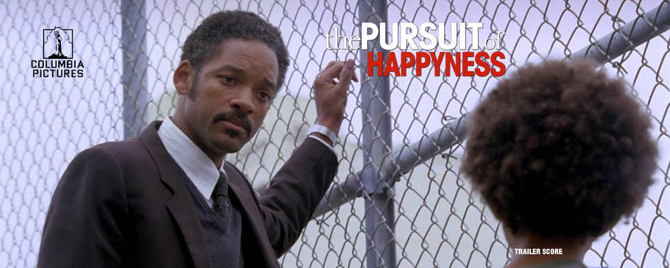 The Pursuit of Happyness Website Banner.