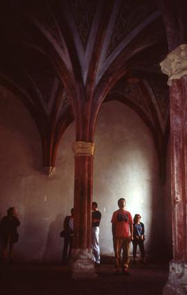 Artists visit a cloister