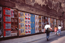 Posters for ArtDialog exhibitions up in Prague