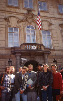 Artists at US embassy in Prague