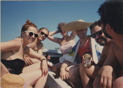 The group on a boat