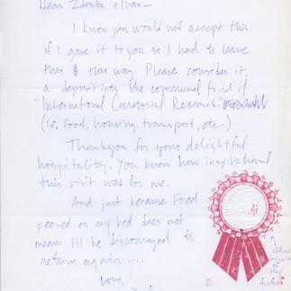 thank you : farewell note to zdenka- wit