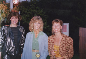 Zdenka Gabalova, Jane Fonda, and Barbara Benish at a fundraising event
