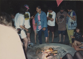 Welcome party bonfire