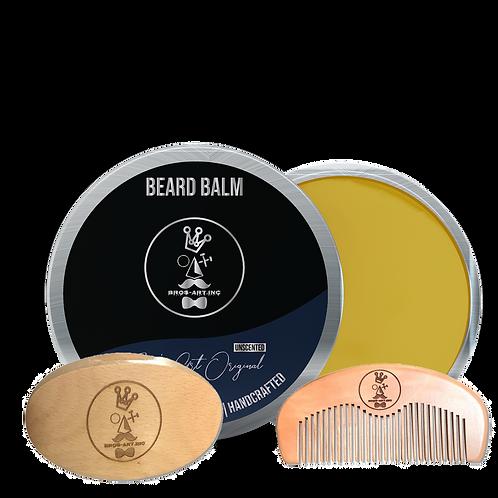 Brush, Comb and 2oz Balm Kit