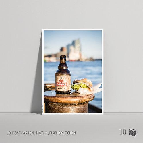 """Postkarten (10 Stück) """"Fischbrötchen"""""""