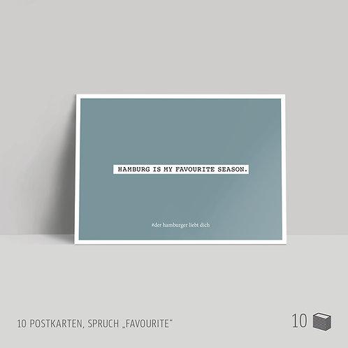 "Postkarten (10 Stück) ""Favourite"""