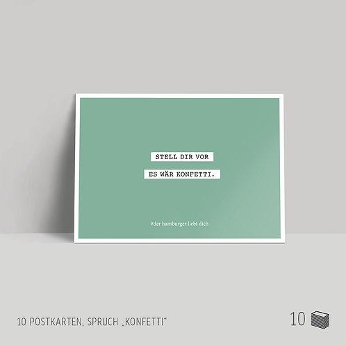 """Postkarten (10 Stück) """"Konfetti"""""""