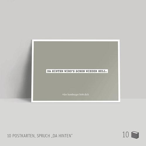 """Postkarten (10 Stück) """"Da hinten"""""""