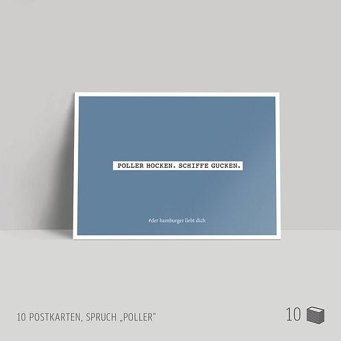 """Postkarten (10 Stück) """"Poller"""""""