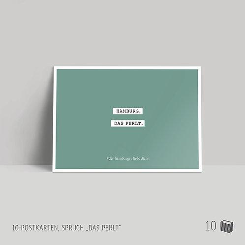 """Postkarten (10 Stück) """"Das perlt"""""""