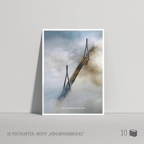"Postkarten (10 Stück) ""Köhlbrandbrücke"""