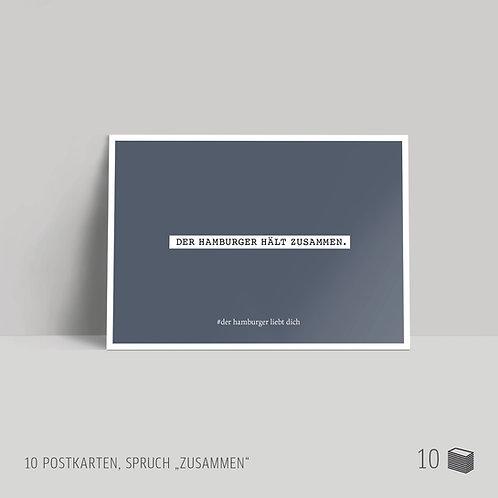 """Postkarten (10 Stück) """"Zusammen"""""""
