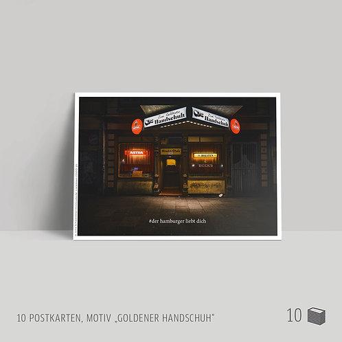"Postkarten (10 Stück) ""Goldener Handschuh"""