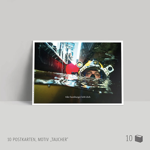 "Postkarten (10 Stück) ""Taucher"""
