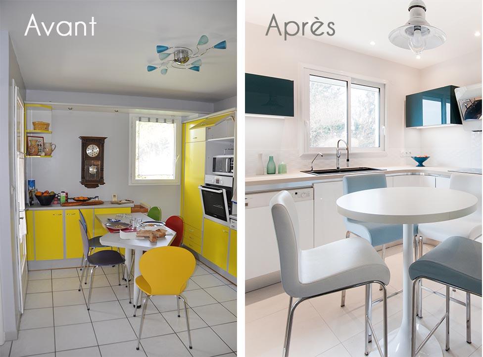 Avant- après cuisine design Lyon
