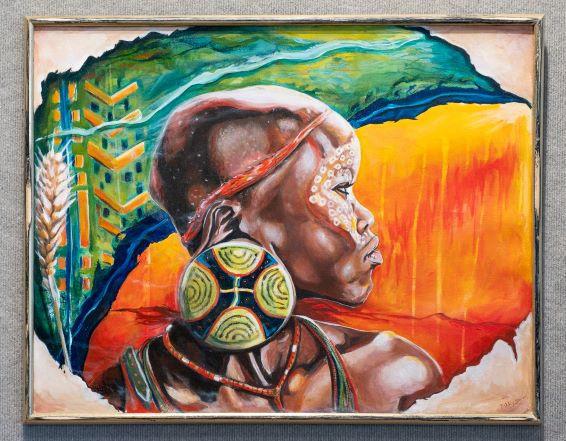 Peer Through the Veil, Acrylic on Canvas, 23 x 30 inches, $275 Artist Billy Smith
