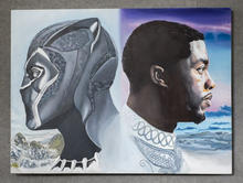 Tribute to Chadwick Boseman, Acrylic on Canvas, 30 x 40 inches NFS Artist Billy Smith Giclees Available on Request