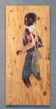 Ghana Dancer, Acrylic on Board, 16 x 36 inches, $400 Artist Billy Smith