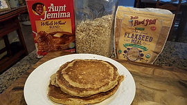 Oatmeal Flax Pancakes