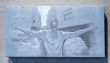 Why, Acrylic on Canvas 15 x 30 inches, NFS Artist Billy Smith