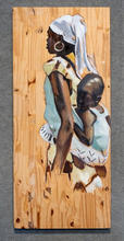 Mother and Child, Acrylic on Board, 16 x 36 inches Private Collection Artist Billy Smith