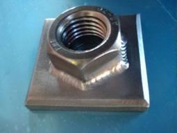 Nut flange TIG welding