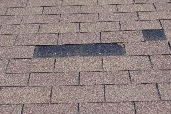 missing roof shingle