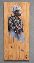 Ghana Girl, Acrylic on Board, 16 x 36 inches $400 Artist Billy Smith