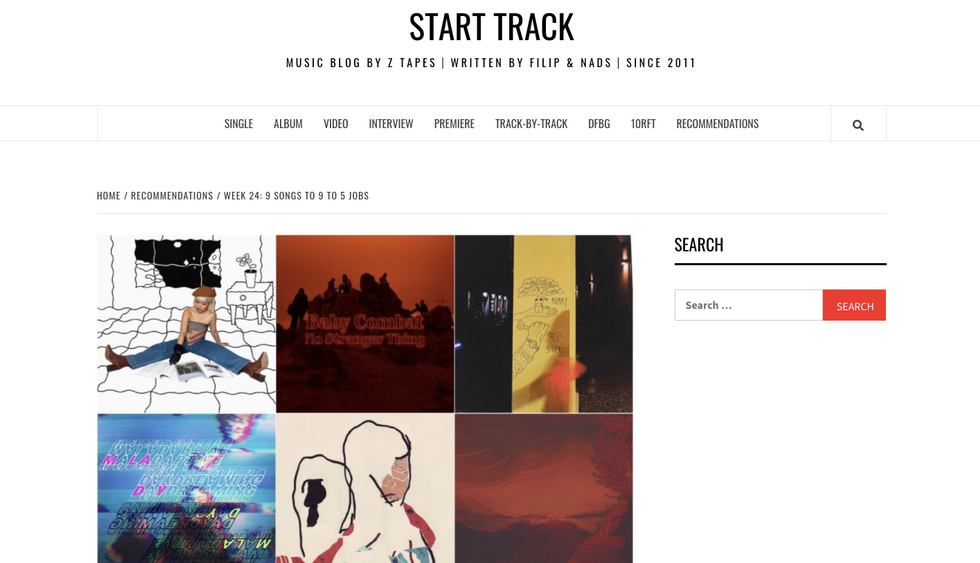 Start Track   WEEK 24: 9 SONGS TO 9 TO 5 JOBS