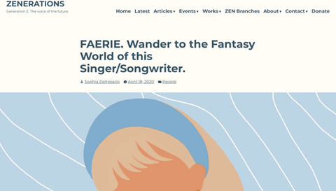 ZENERATIONS | FAERIE. Wander to the Fantasy World of this Singer/Songwriter.