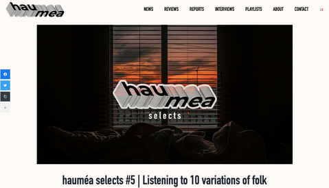 hauméa mag | hauméa selects #5 | Listening to 10 variations of folk music...