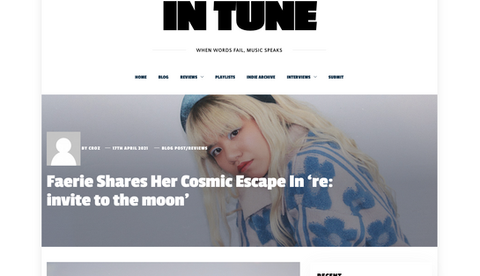 In Tune Music | Faerie Shares Her Cosmic Escape In 're: invite to the moon'