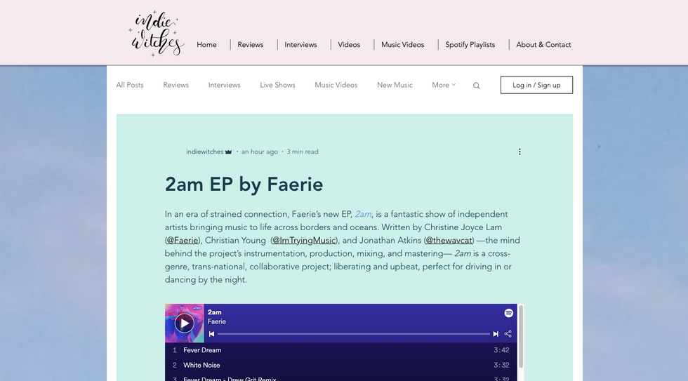 Indie Witches | 2am EP by Faerie