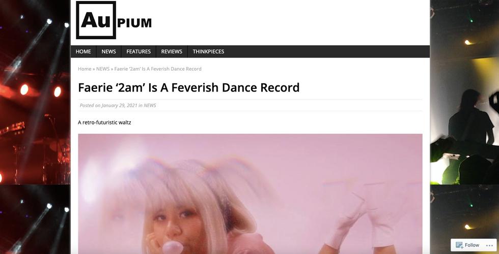Aupium   Faerie '2am' Is A Feverish Dance Record
