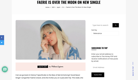 The Honey POP | Faerie Is Over The Moon On New Single