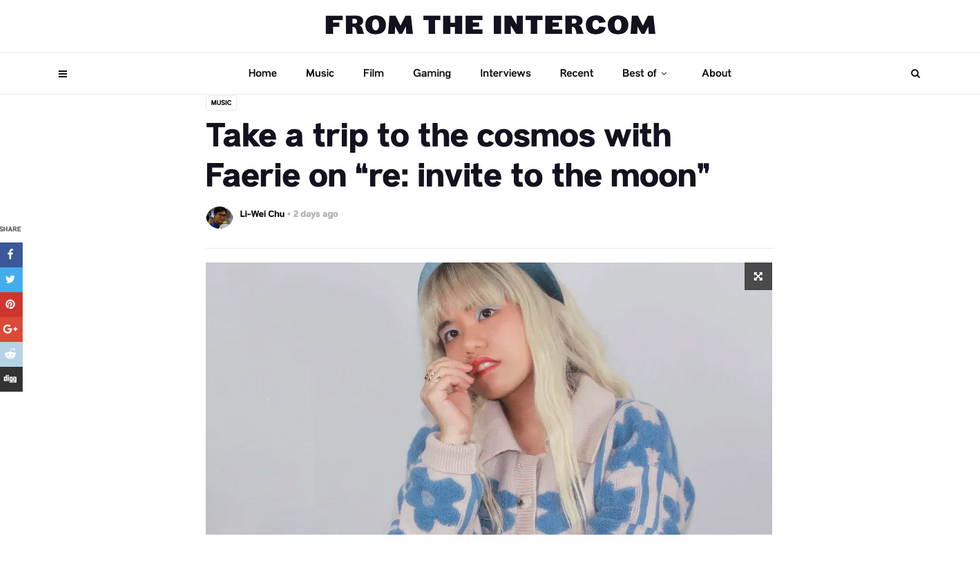 "From The Intercom | Take a trip to the cosmos with Faerie on ""re: invite to the moon"""