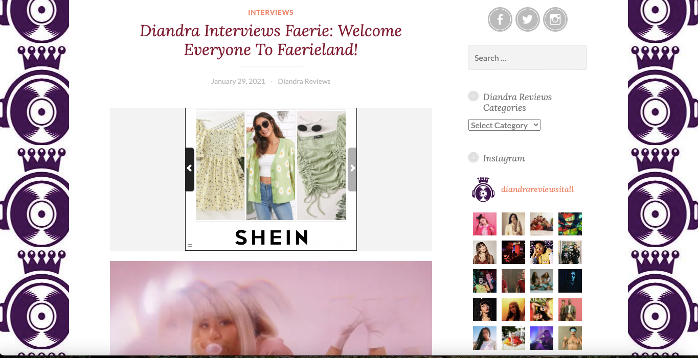 Diandra Reviews It All | Welcome Everyone To Faerieland!
