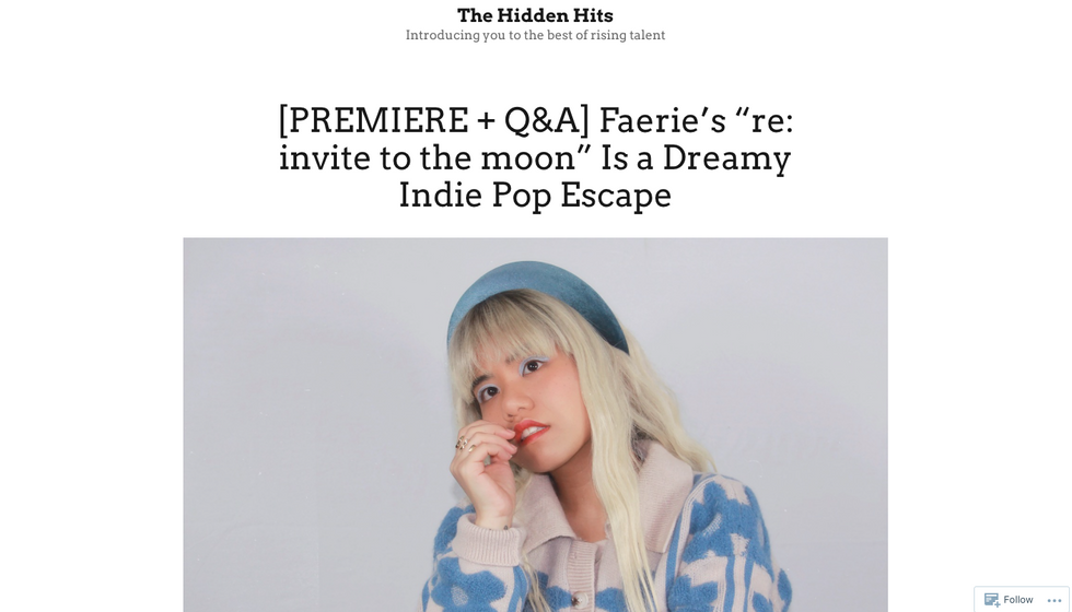 "The Hidden Hits | Faerie's ""re: invite to the moon"" Is a Dreamy Indie Pop Escape"