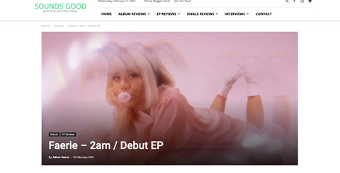 Sounds Good | Faerie - 2am / Debut EP