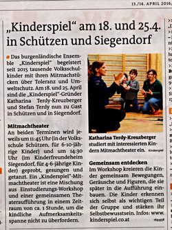 Bezirksblätter Eisenstadt 13.4.2016