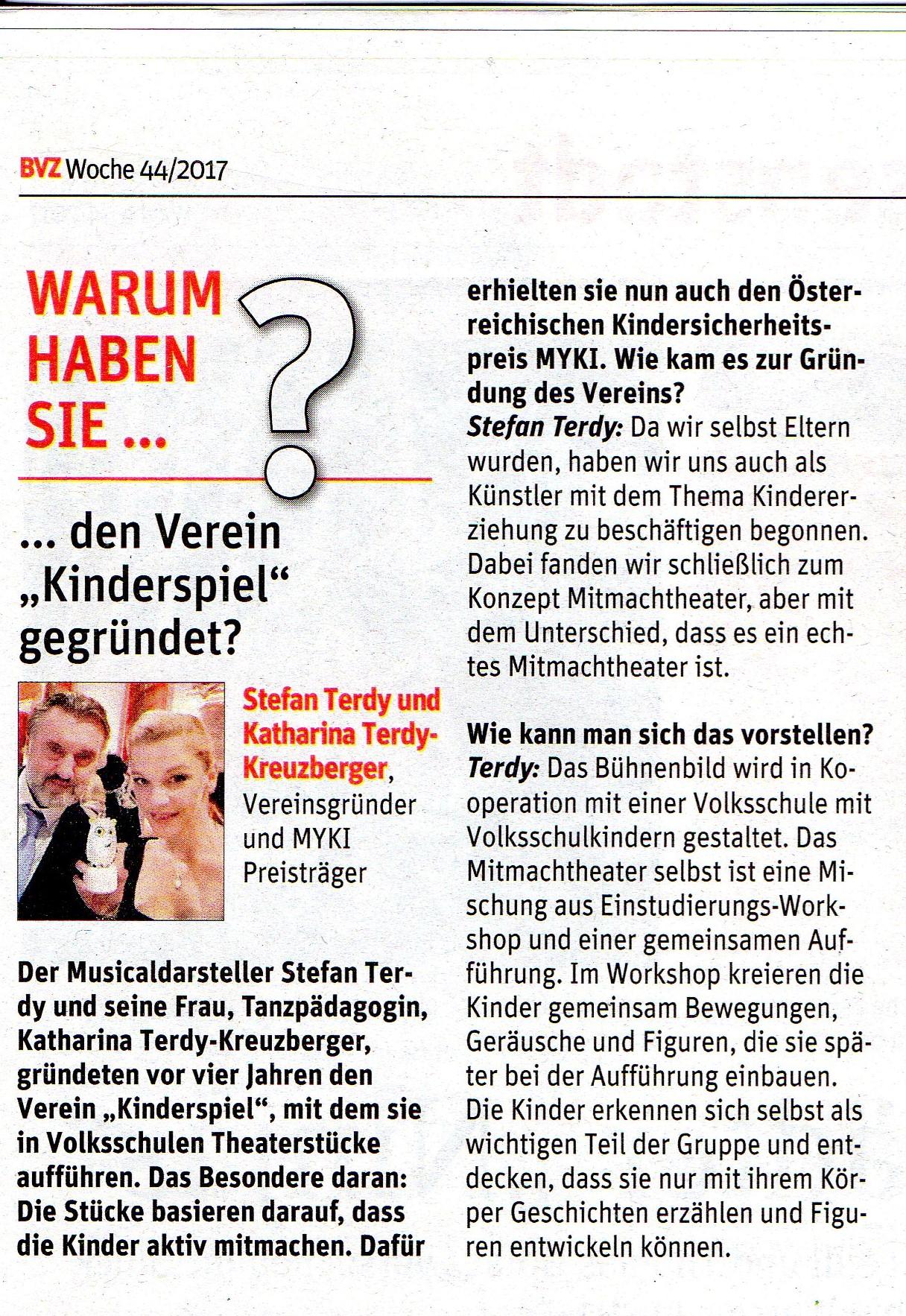 BVZ Woche 44/2017