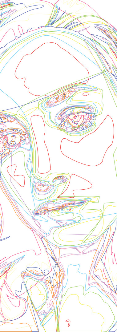 Vector Self-Portrait (Outlines)